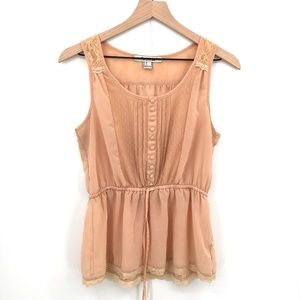 Forever 21 Romantic Tank Top Yellow beige boho